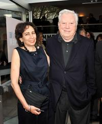 Producer Anahid Nazarian and Fred Roos at the California premiere of