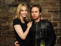 Leslie Bibb and Sam Rockwell at the after party of the New York premiere of