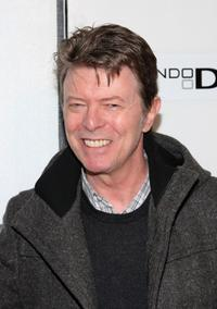 David Bowie at the New York premiere of