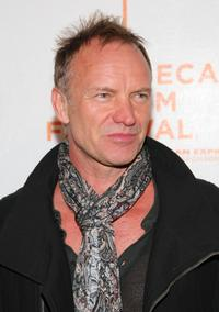 Sting at the New York premiere of