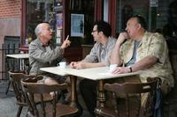 Larry David as Boris, Adam Brooks and Lyle Kanouse as Boris's friends in