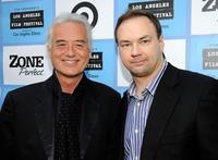 Jimmy Page and Thomas Tull at the California premiere of