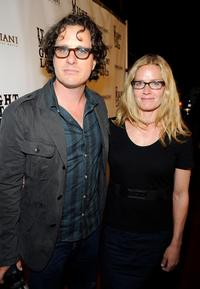 Director Davis Guggenheim and Elisabeth Shue at the after party of the California premiere of