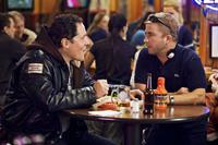 Jon Favreau and Director Peter Billingsley on the set of