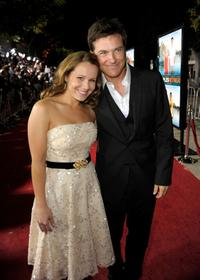Writer Dana Fox and Jason Bateman at the California premiere of
