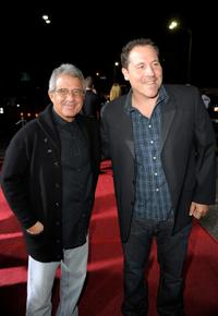 Ron Meyer and Jon Favreau at the California premiere of