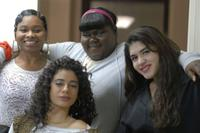 Amina Robinson, Stephanie Andujar and Gabourey Sidibe in
