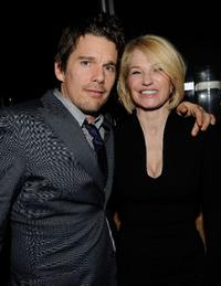 Ethan Hawke and Ellen Barkin at the after party of the New York premiere of
