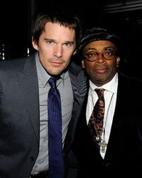 Ethan Hawke and Spike Lee at the after party of the New York premiere of