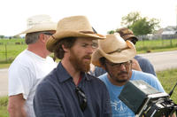 Cinematographer Danny Moder and director/screenwriter Dennis Lee on the set of