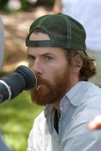 Cinematographer Daniel Moder on the set of