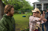 Cinematographer Daniel Moder and director/screenwriter Dennis Lee on the set of