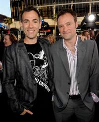 Vincenzo Natali and David Hewlett at the California premiere of