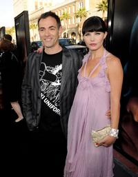 Vincenzo Natali and Delphine Chaneac at the California premiere of