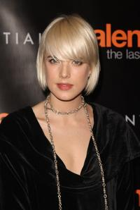 Agyness Deyn at the New York premiere of
