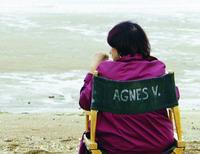 Agnes Varda on the set of