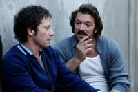 Mathieu Amalric as Francois Besse and Vincent Cassel as Jacques Mesrine in