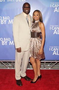 Producer Roger Bobb and Demetria McKinney at the New York premiere of