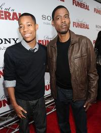 Tyler James Williams and Chris Rock at the California premiere of
