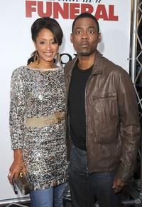 Malaak Compton and Chris Rock at the California premiere of