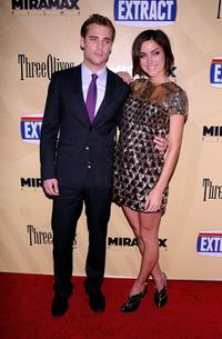 Dustin Milligan and Jessica Stroup at the California premiere of