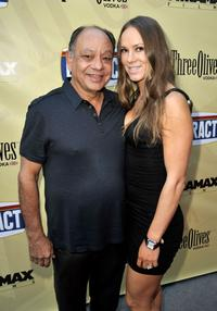 Cheech Marin and Natasha Rubin at the California premiere of