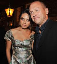 Mila Kunis and Mike Judge at the after party of the California premiere of