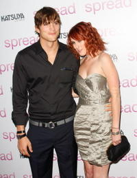 Ashton Kutcher and Rumer Willis at the California premiere of