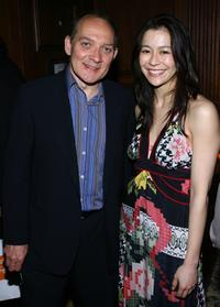 Zach Grenier and Director Elizabeth Chai Vasarhelyi at the after party of the New York premiere of
