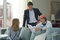 Sarah Jessica Parker, Hugh Grant and Director Marc Lawrence on the set of