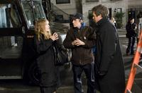 Sarah Jessica Parker, Director Marc Lawrence and Hugh Grant on the set of