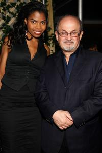 Pia Glenn and Salman Rushdie at the after party of the New York premiere of