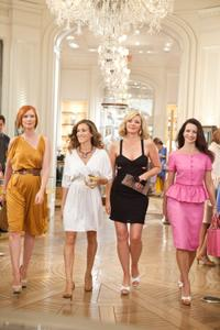 Cynthia Nixon as Miranda Hobbes, Sarah Jessica Parker as Carrie Bradshaw, Kim Cattrall as Samantha Jones and Kristin Davis as Charlotte York in