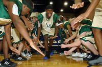 LeBron James and his teammates from St. Vincent-St. Mary's High School in