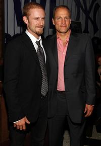 Ben Foster and Woody Harrelson at the New York premiere of
