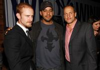 Ben Foster, David Blaine and Woody Harrelson at the New York premiere of