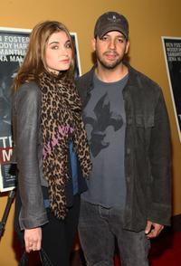 Alizee Guinochet and David Blaine at the New York premiere of