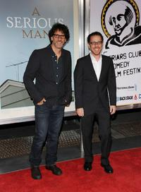Joel Coen and Ethan Coen at the New York premiere of