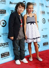 Frankie Jonas and Noah Cyrus at the California premiere of