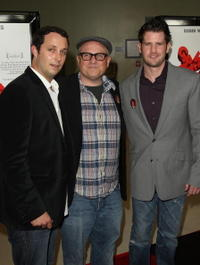 Producer Sean McKittrick, Bobcat Goldthwait and producer Richard Kelly at the California premiere of