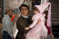 Jackie Chan as Bob Ho and Alina Foley as Nora in