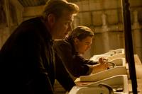 Director Christopher Nolan and Leonardo Dicaprio on the set of