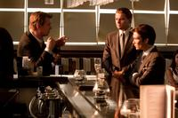 Director Christopher Nolan, Leonardo Dicaprio and Cillian Murphy on the set of