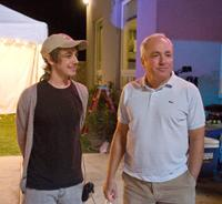 Writer/director Jorma Taccone and producer Lorne Michaels on the set of