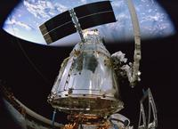 "Astronaut John Grunsfeld and Astronaut Andrew Feustel in ""Hubble 3D."""
