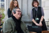 """Director Adam McKay on the set of """"The Other Guys."""""""