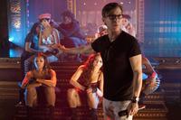 "Director Steven Antin on the set of ""Burlesque."""