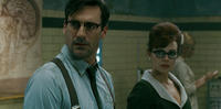 Jon Hamm as High Roller and Carla Gugino as Dr. Vera Gorski in