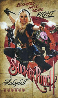 Character poster art featuring Emily Browning as Babydoll in