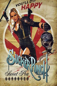 Character poster art featuring Abbie Cornish as Sweet Pea in